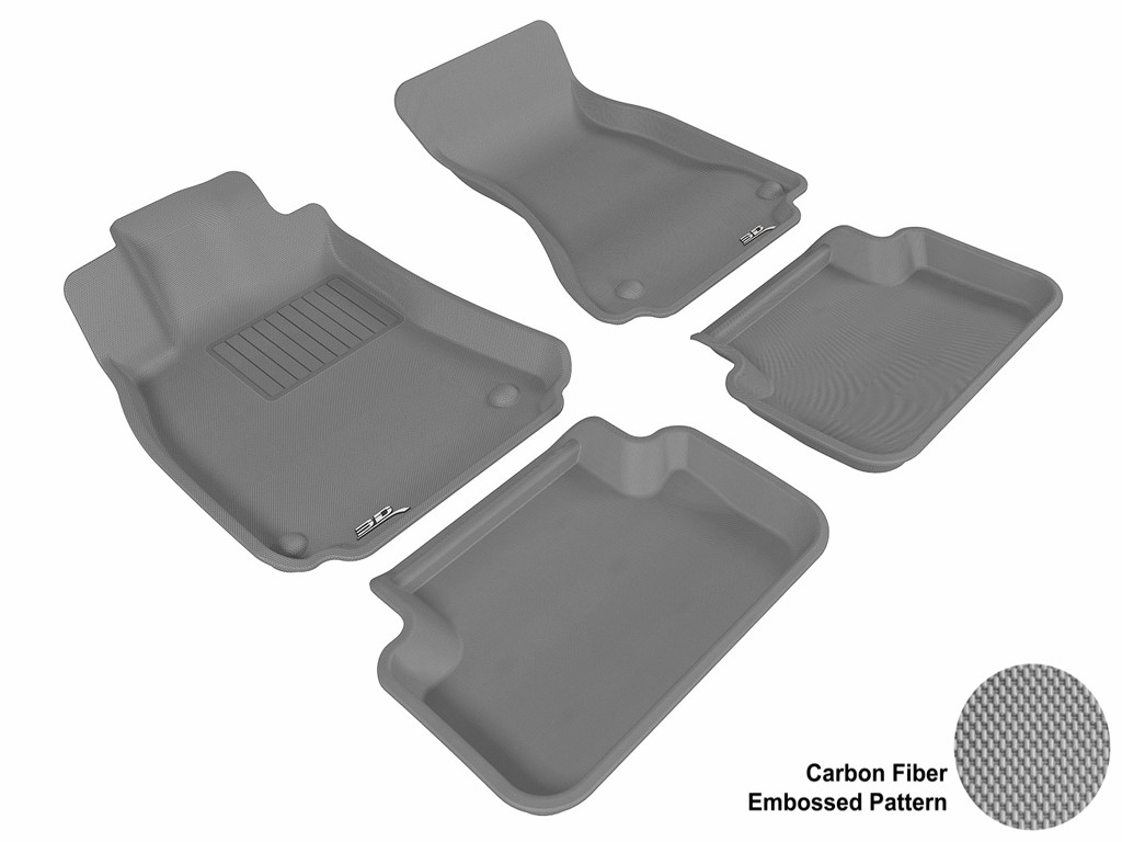 Connected Essentials 5030122 Black with Grey Trim Tailored Heavy Duty Custom Fit Car Mats Audi A4//Avant//S4 B5 1994-2001